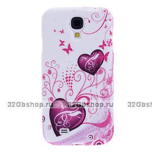 Силиконовый чехол для Samsung Galaxy S4 mini сердце