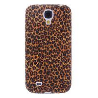 Чехол силиконовый для Samsung Galaxy S4 mini коричневый леопард