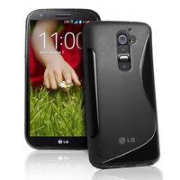 Силиконовый чехол для LG G2 D802 - S Line Wave Case Black черный