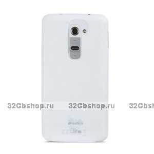 Ультратонкая белая накладка Melkco для LG Optimus G2 D802 Ultra thin Air PP case 0.4mm White