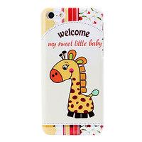 Пластиковый чехол накладка для iPhone 5c жираф - Happy Giraffe Pattern Case