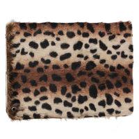 Чехол книга Smart Lux Case для iPad Air 5 меховой леопард
