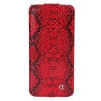 Чехол книга Rada для iPhone 5 / 5s / SE змея красная