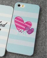 Чехол накладка для iPhone 5 / 5s / SE белая с сердцем