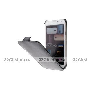 Чехол книжка для Samsung Galaxy S5 черный Armor Case Black