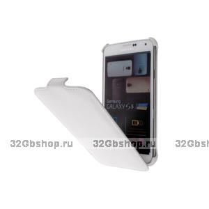 Чехол книжка для Samsung Galaxy S5 белый Armor Case White