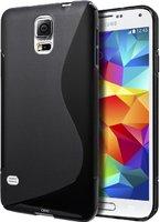 Силиконовый чехол для Samsung Galaxy S5 черный - S Style Soft Silicone Case Black