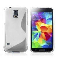 Силиконовый чехол для Samsung Galaxy S5 mini прозрачный - S Style TPU Case Transparent