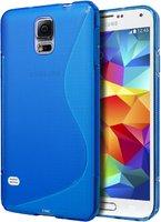 Голубой силиконовый чехол S-Style для Samsung Galaxy S5 - S Style Soft Silicone Case Blue