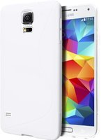 Белый силиконовый чехол S-Style для Samsung Galaxy S5 - S Style Soft Silicone Case White