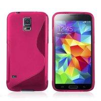 Силиконовый чехол для Samsung Galaxy S5 mini розовый - S Style TPU Case Pink