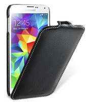 Черный кожаный чехол для Samsung Galaxy S5 mini - Melkco Jacka Type Case Black Case