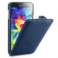 Синий кожаный чехол для Samsung Galaxy S5 mini - Melkco Jacka Type Case Blue Case