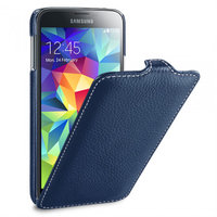 Синий кожаный чехол для Samsung Galaxy S5 mini - Melkco Jacka Type Case Blue Case