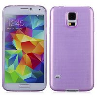 Силиконовый чехол для Samsung Galaxy S5 фиолетовый - Slim Silicone Case Purple