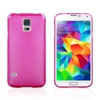 Силиконовый чехол для Samsung Galaxy S5 розовый - Slim Silicone Case Pink