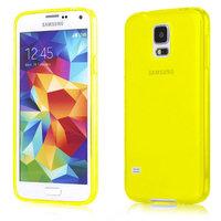 Силиконовый чехол для Samsung Galaxy S5 желтый - Slim Silicone Case Yellow