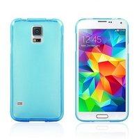 Силиконовый чехол для Samsung Galaxy S5 голубой - Slim Silicone Case Blue