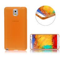 Ультратонкий чехол для Samsung Galaxy Note 3 N9000 оранжевый матовый 0.3mm Ultra Thin Matte Orange Case