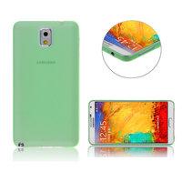 Ультратонкий чехол для Samsung Galaxy Note 3 N9000 зеленый матовый 0.3mm Ultra Thin Matte Green Case