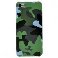 Чехол накладка для iPhone 5 / 5s / SE зеленый камуфляж