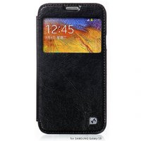 Чехол книжка HOCO для Samsung Galaxy S5 mini черный с окошком - HOCO Crystal View Black