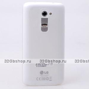 Ультратонкий белый матовый чехол для LG Optimus G2 0.3mm Ultra Thin Slim Matte Case White