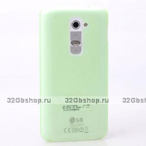 Ультратонкий зеленый матовый чехол для LG Optimus G2 0.3mm Ultra Thin Slim Matte Case green
