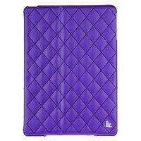 Стеганый фиолетовый кожаный чехол Jisoncase для iPad Air