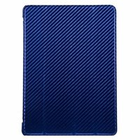 Чехол Melkco для iPad Air Leather Case Slimme Cover Carbon Fiber Pattern - Blue