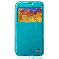 Чехол книжка с окошком HOCO для Samsung Galaxy S5 голубой