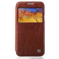 Чехол книжка HOCO для Samsung Galaxy S5 mini коричневый с окошком - HOCO Crystal View Brown