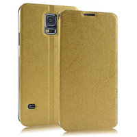 Чехол книжка Pudini Book Case Gold для Samsung Galaxy S5 i9600 золотой
