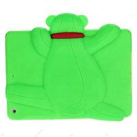 Силиконовый чехол медведь для iPad Air зеленый мишка Smart Silicone Back Cover Green Bear