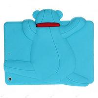 Силиконовый чехол медведь для iPad Air голубой мишка Smart Silicone Back Cover Blue Bear