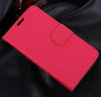 Розовый чехол кошелек для Samsung Galaxy S5 - Grain Pattern Wallet Case Pink