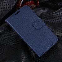 Синий чехол кошелек для Samsung Galaxy S5 - Grain Pattern Wallet Case Dark Blue