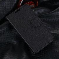 Черный чехол кошелек для Samsung Galaxy S5 - Grain Pattern Wallet Case Black