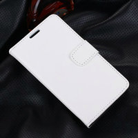 Белый чехол кошелек для Samsung Galaxy S5 - Grain Pattern Wallet Case White