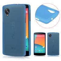 Ультратонкий чехол для Google Nexus 5 голубой - 0.3 mm Ultra Thin Matte Blue Case