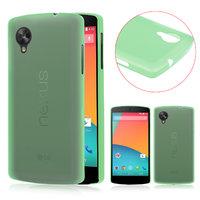 Ультратонкий чехол для Google Nexus 5 зеленый - 0.3 mm Ultra Thin Matte Green Case