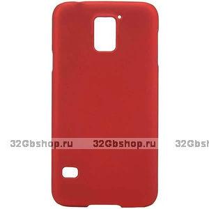 Пластиковый чехол для Samsung Galaxy S5 mini красный - Soft Touch Red Plastic Case