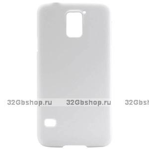 Пластиковый чехол для Samsung Galaxy S5 mini белый - Soft Touch White Plastic Case