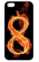Чехол накладка для iPhone 5 / 5s / SE Восемь