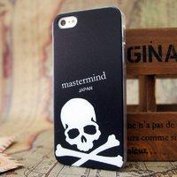 Чехол накладка для iPhone 5s / SE / 5 White Skull