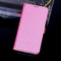 Чехол книга для Samsung Galaxy S5 розовый - Silk Grain Book Case Rose