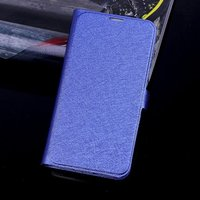 Чехол книга для Samsung Galaxy S5 синий - Silk Grain Book Case Blue
