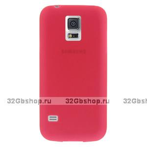 Ультратонкий чехол для Samsung Galaxy S5 mini красный - Ultra Thin Red Case