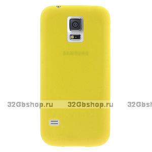 Ультратонкий чехол для Samsung Galaxy S5 mini желтый - Ultra Thin Yellow Case