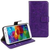Чехол кошелек для Samsung Galaxy S5 фиолетовый - Crazy Horse Wallet Case Purple